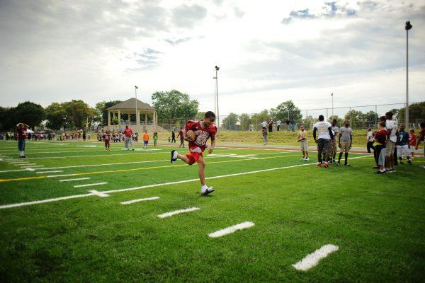 Hunting Park Football Field Ribbon CuttingAugust 19, 2013