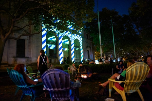 GLOW in the Park at the Palazzo Lighting by Klip Collective (the folks who created Nightscape at Longwood Gardens) and music from West Philadelphia Orchestra. October 19, 2016