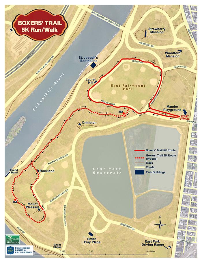 Boxer's Trail in Fairmount Park