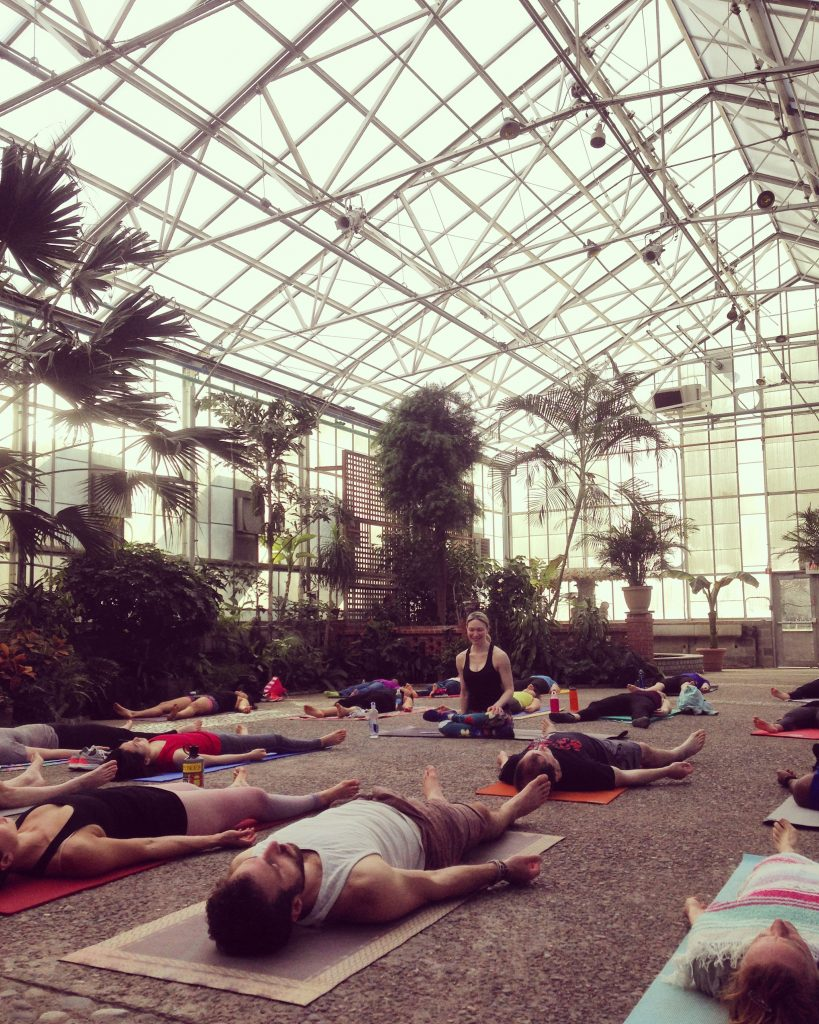 Yoga in the greenhouse Thumbnail