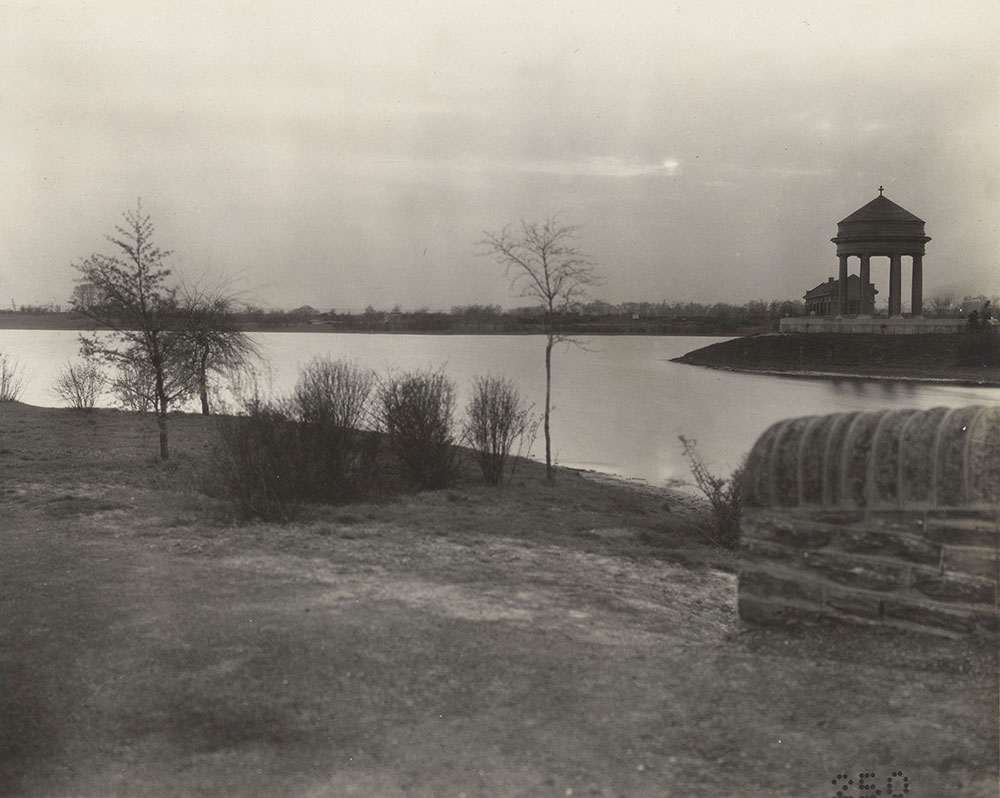 View of Sesqui-Centennial International Exposition site approximately one year before the event.