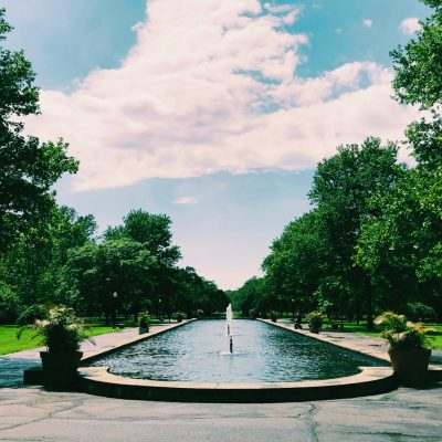 Outdoor Yoga at the Reflecting Pool