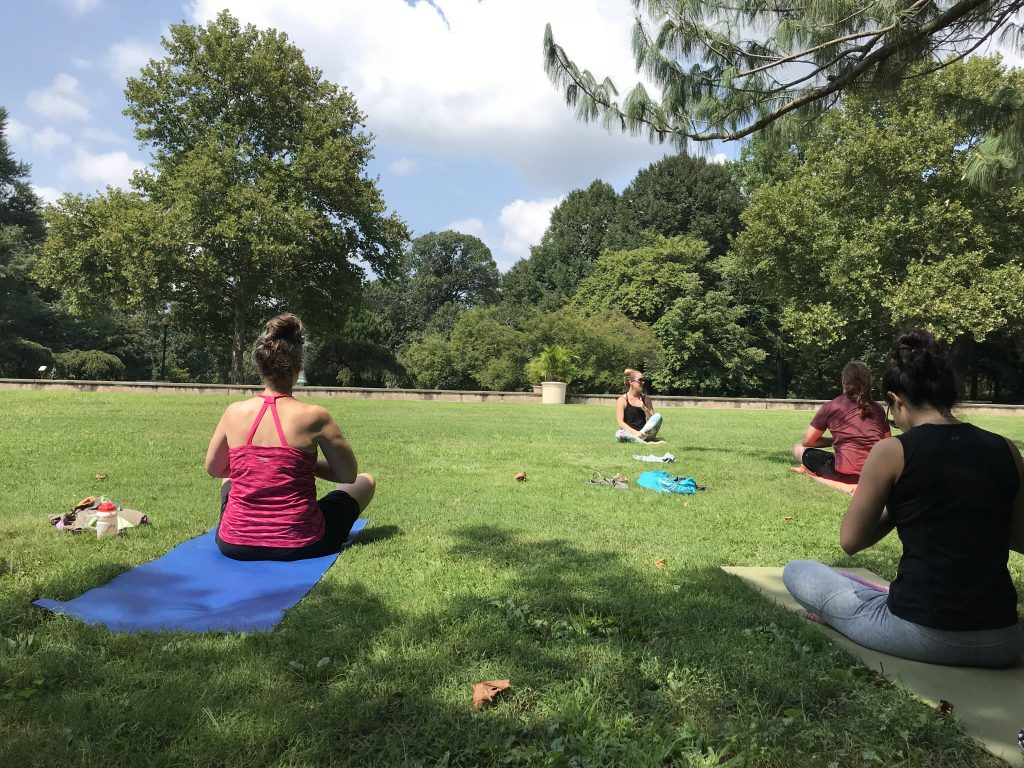 Outdoor yoga by the Reflecting Pool Thumbnail