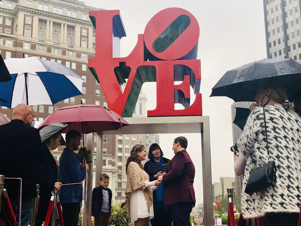 Wedding Wednesday at LOVE Park ends fall season with 10 happy newlyweds Thumbnail
