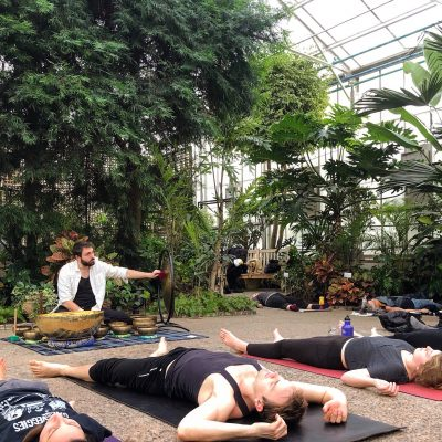 Sun and Moon Sound Bath in the Greenhouse
