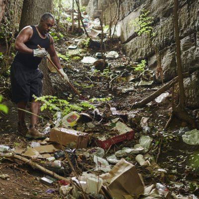 Trash Grab Tuesday at Parkside Evans