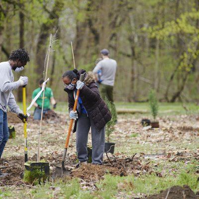 Volunteer Cleanup in Fairmount Park
